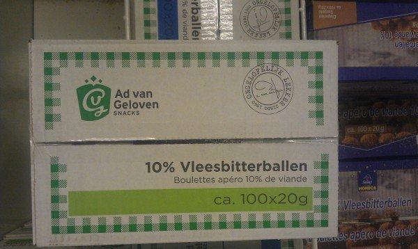 Ad van Geloven 10% vleesbitterballen - Boulettes apéro 10% de viande