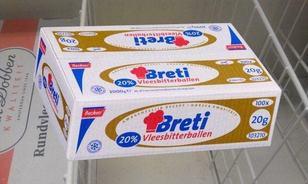 Breti vleesbitterballen 20% Izico Beckers