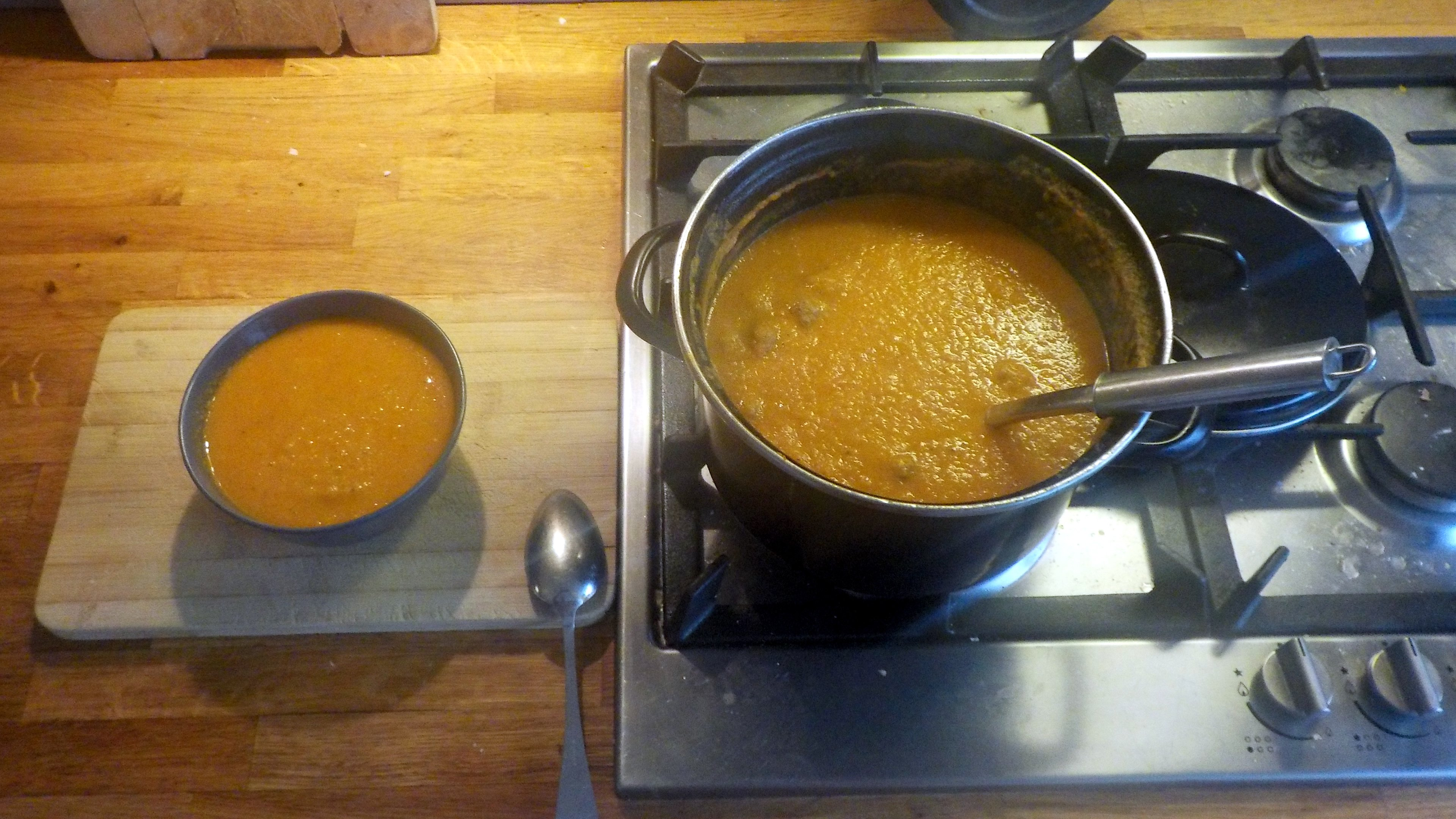 Tomatensoep-groentesoep recept, snel, vers en gezond voor kinderen