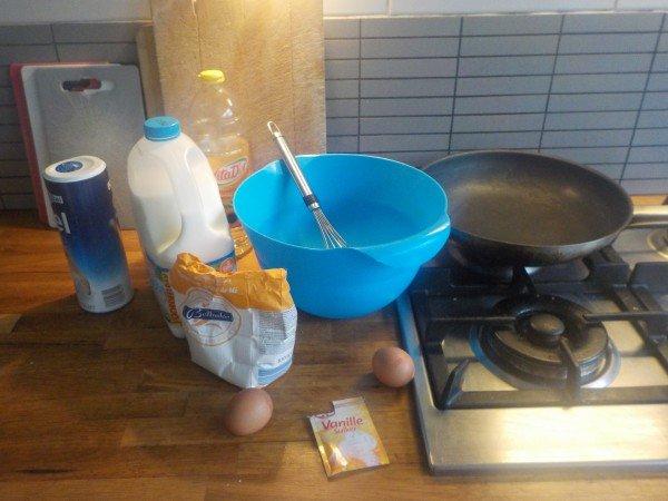 Pannenkoeken bakken ingrediënten