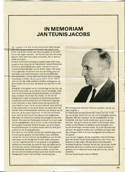 In memorian Jan Teunis Jacobs