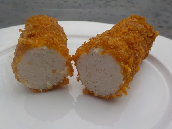 Fried Chicken Roll with Crispy Corn Flakes Crust