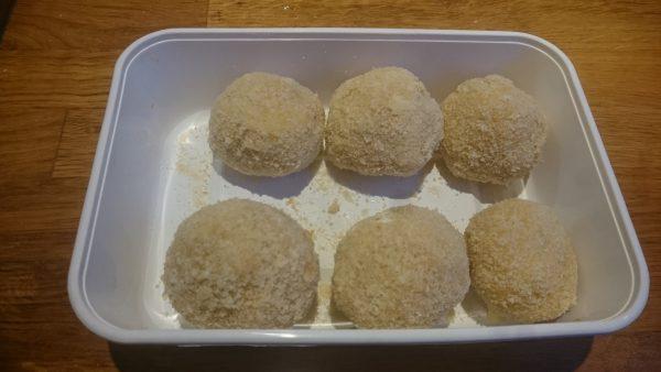 Aardappelbitterballen frituren