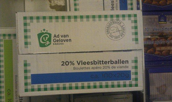 Ad van Geloven 20% vleesbitterballen