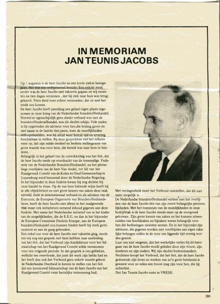 In memorian Jan Teunis Jacobs